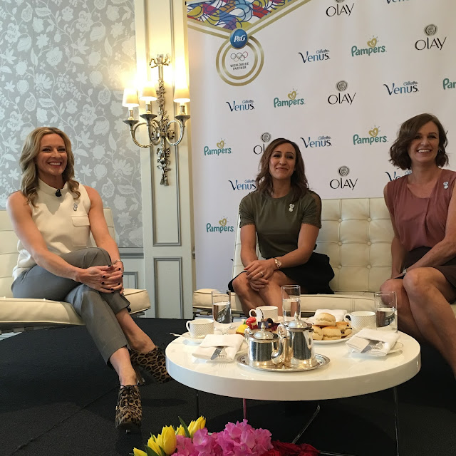 Jessica Ennis Hill, her mum Alison and tv presenter Gabby Logan