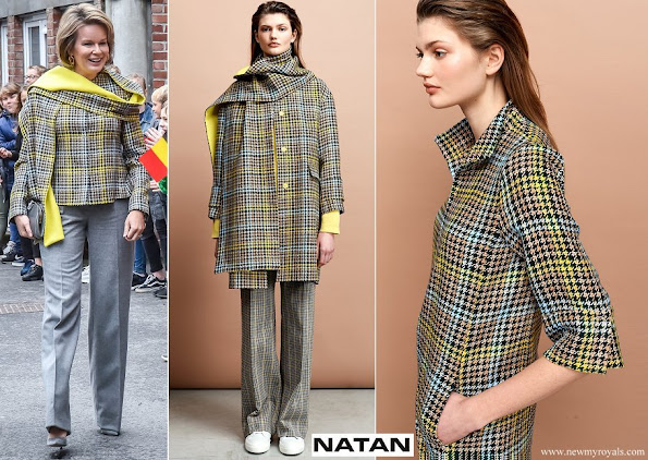 Queen Mathilde wore Natan coat from Fall Winter 2019 Collection