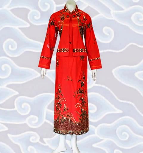 Baju Gamis Batik Muslimah Modern Model Kombinasi Terbaru