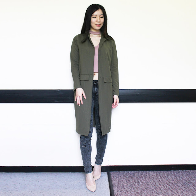 shopical social shopping, shopical review blog, shopical dress review, longline duster coat uk, longline duster coat khaki, duster coat outfit blog review, social shopping sites review