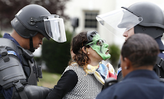 7 arrested — 4 for wearing a mask — during rally and counterprotest in Richmond