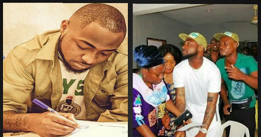 Davido the Corps member breaks NYSC bye laws to attend concert in United States