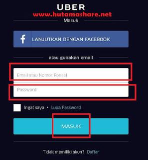 Mendaftarkan Nomor Rekening Bank Pada Akun Uber Motor