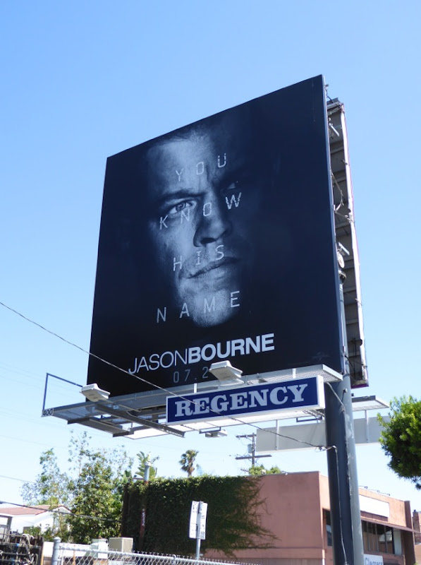 Jason Bourne You know his name billboard