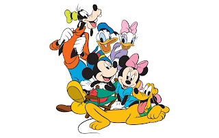 Mickey Disney, Pateta, Plutos, Donald, Margarida