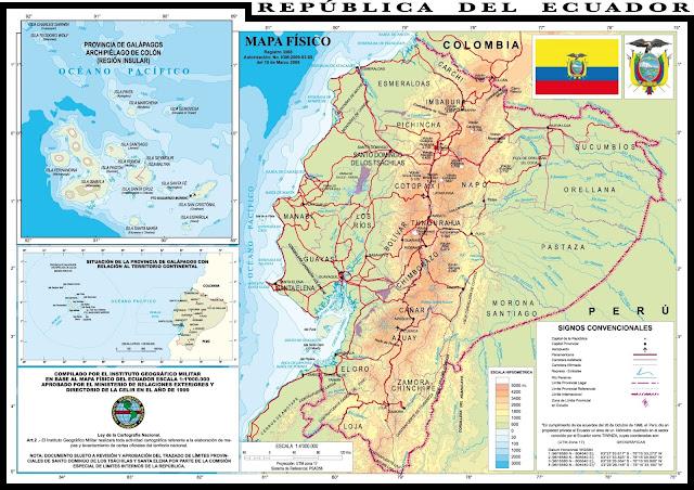 mapa ecuador map