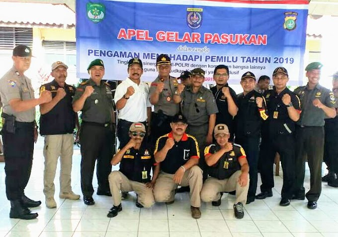 Sukseskan Pemilu Damai 2019, Koramil 01/Pancoran Mas Gelar Apel Pasukan Pengamanan