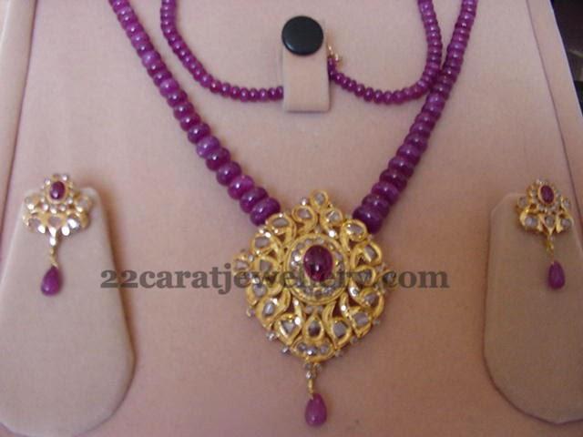Beads Jewelry With Diamond Tops Jewellery Designs