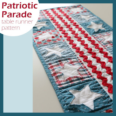 Patriotic Parade table runner pattern from A Bright Corner