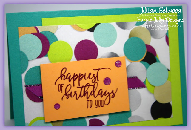 Picture Perfect Party DSP, Glitter Enamel Dots, Picture Perfect Birthday stamp set