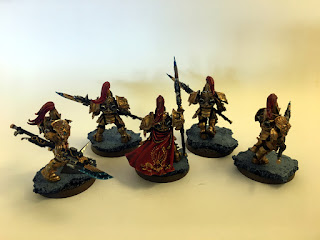 40k Burning of Prospero - Adeptus Custodes group shot - back