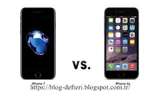 İphone 7 İle İphone 6s Karşılaştırmalı Teknik Özellikleri