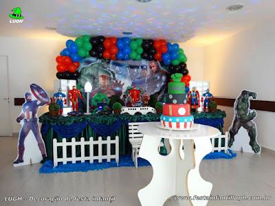 Decoração infantil tema Vingadores - aniversário