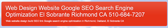 SEO web design in Oakland RIchmond CA