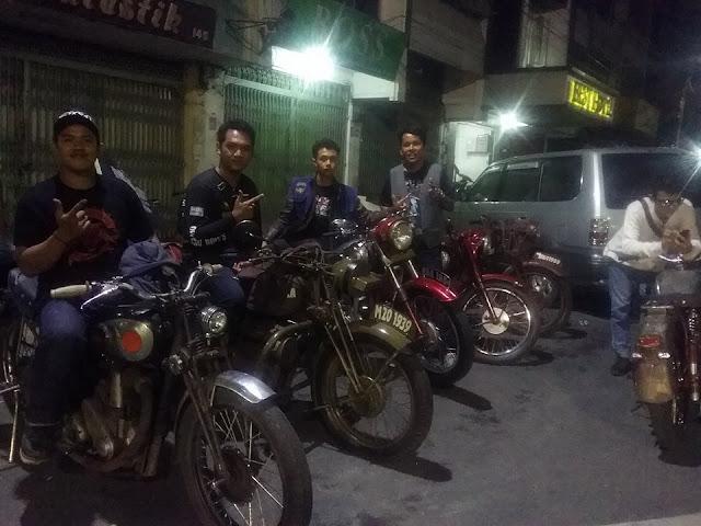 Bikers BOMS Siantar saat persiapan menuju perjalanan ke Berastagi