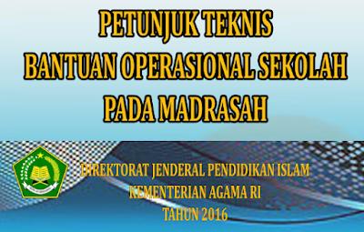 Juknis BOS Madrasah Kemnag (MI, MTS, dan MA)