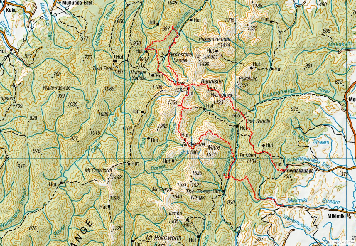 Biking And Tramping Trip Blogs March 2018 Aqua Water Jogging Belt For Your Run Cross Training Post Stroke Attack Size M Where In At Kiriwhakapapa Bannister Ridge Return Via Tarn To Mikimiki When Easter 30 2 April Who Solo Maps Large Scale