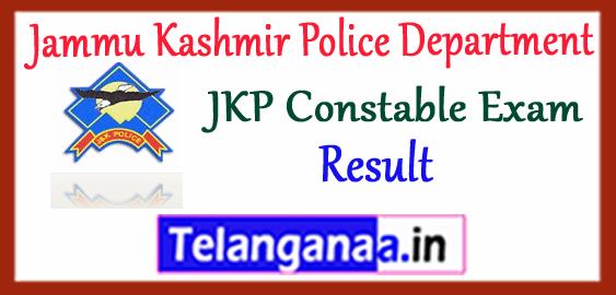 Jammu Kashmir Police Department Constable Result 2017 Cutoff Merit List