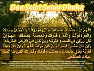 Bacaan Doa Setelah Sholat Dhuha Arab Latin dan Artinya Lengkap