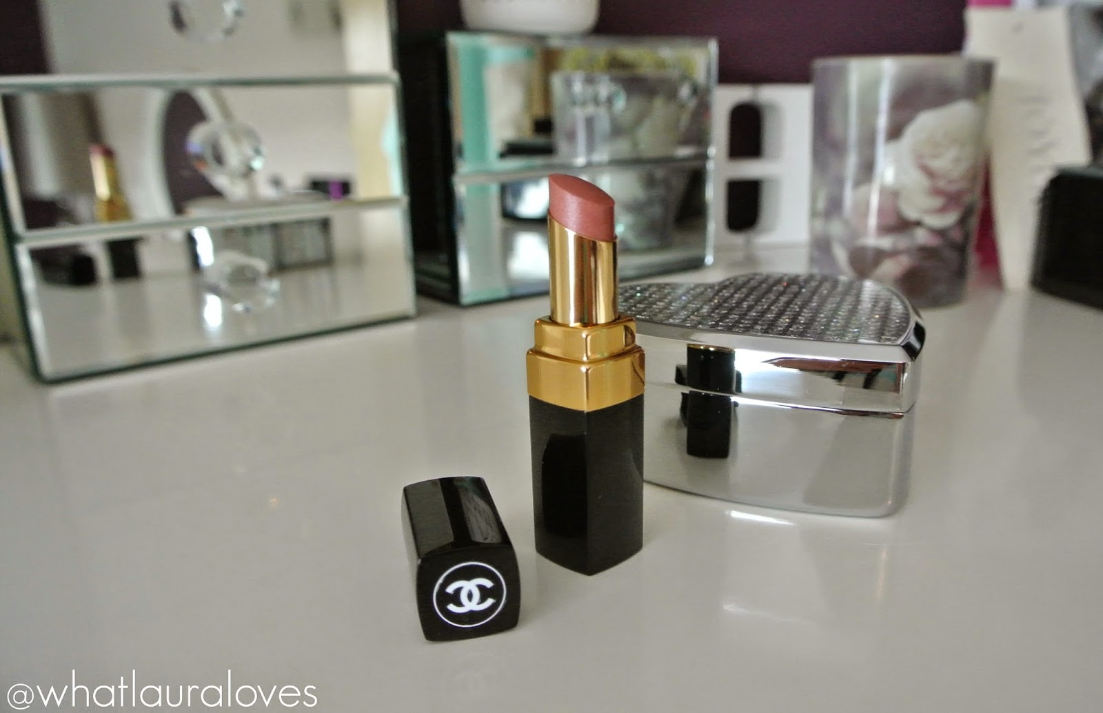1b03ae563cef71 Chanel Rouge Coco Shine Lipstick in Boy Review - WhatLauraLoves