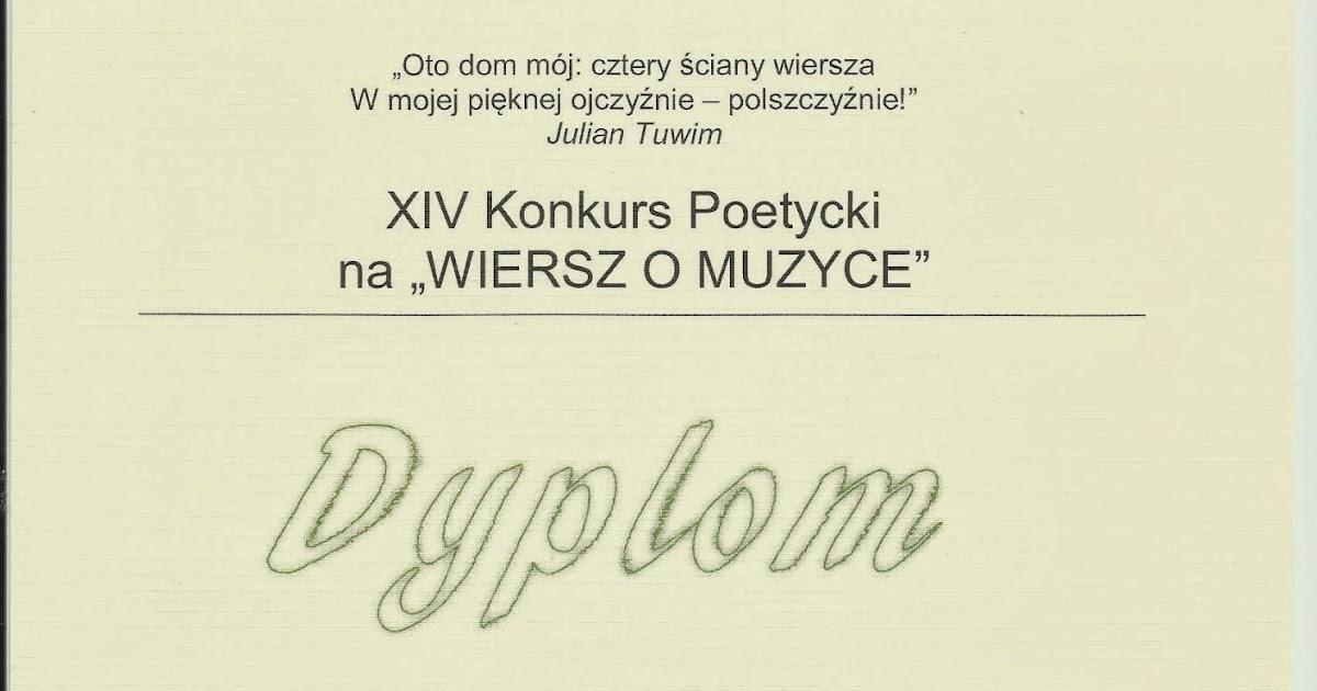 Moje Wiersze My Poetry 14 Xiv Konkurs Poetycki Na