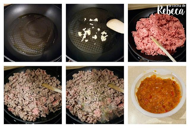 Receta de gratén de carne picada con calabacín 01