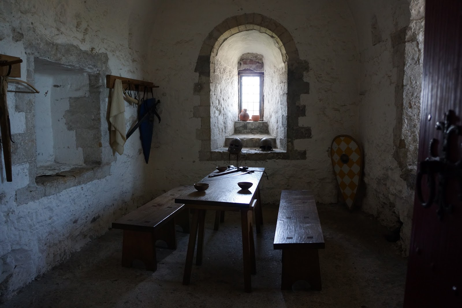 inner room with swords at dover castle