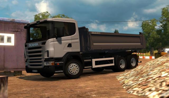 dump/dam truk tronton model scania