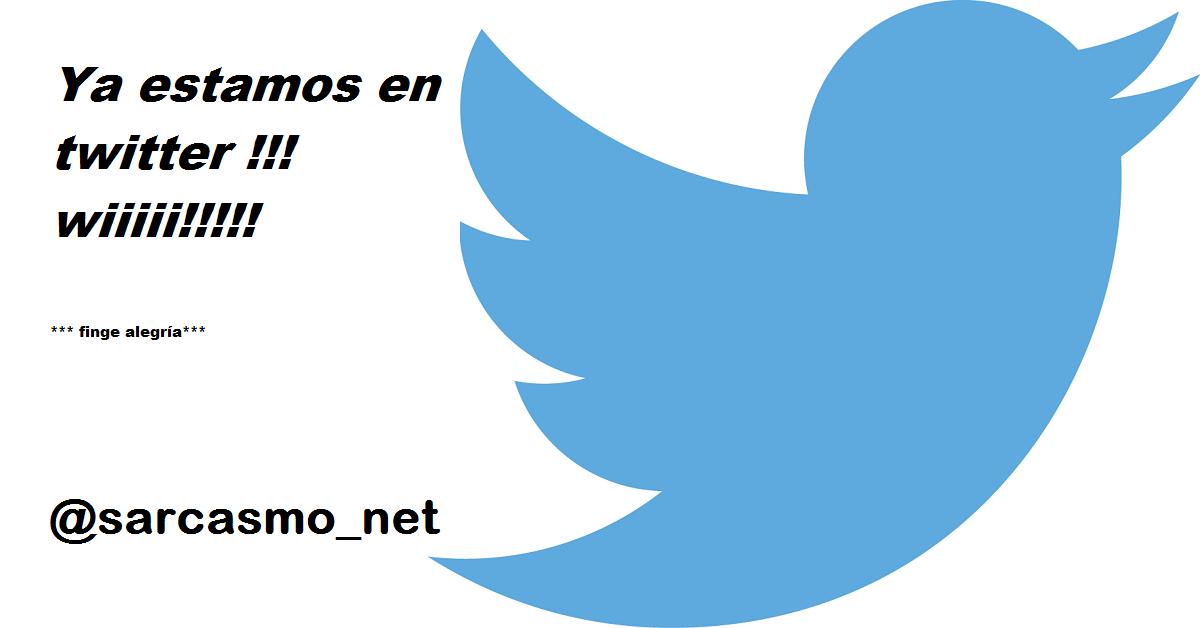 Ya estamos en twitter!