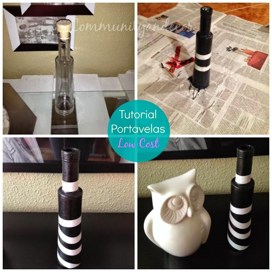Tutorial para crear un portavelas reciclado con una botella de cristal