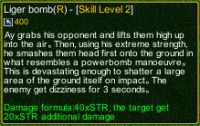 naruto castle defense 6.0 Liger Bomb detail