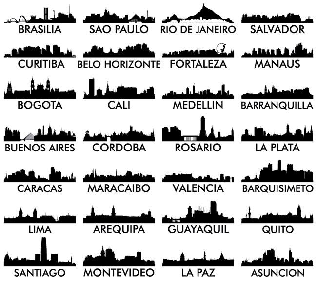 34 Latin American Skyline Vectors Preview 02 by Saltaalavista Blog