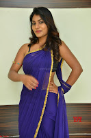 Actress Priya in Blue Saree and Sleevelss Choli at Javed Habib Salon launch ~  Exclusive Galleries 018.jpg