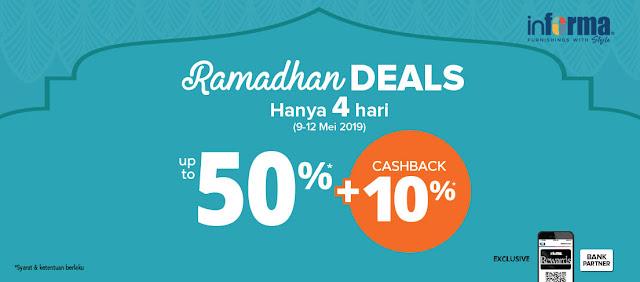 #Informa - #Promo 4 Hari Ramadhan Deals Diskon Hingga 50% + 10% (s.d 12 Mei 2019)
