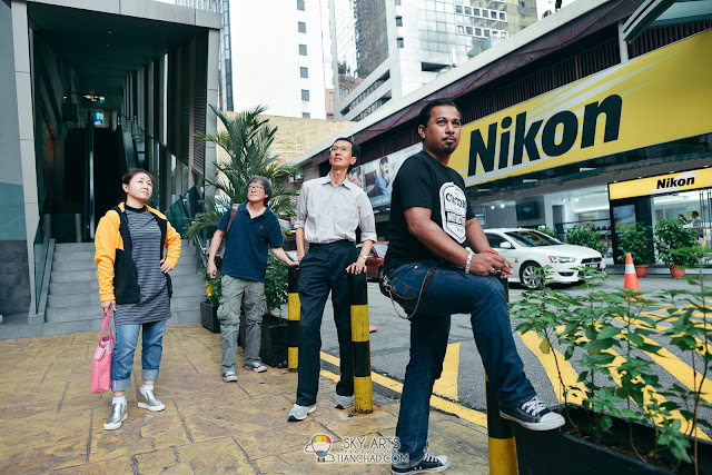 My coolest team members - Joanne, Leong, Chua and Ariffin Taken in front of Nikon Center Kuala Lumpur a.k.a. Nikon Experience Hub, Kuala Lumpur