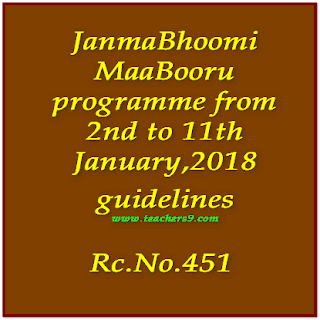 Janmabhoomi Maavooru programme from 2nd to 11th January,2018-Rc.No.451 guidelines