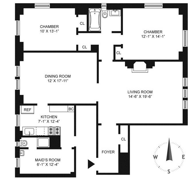 1 Bedroom Apartment In New York: Apartment Room Count