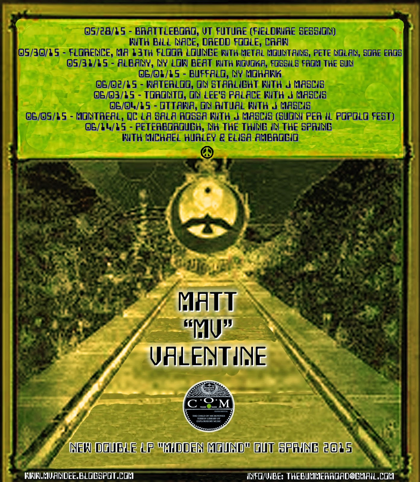 Mv Amp Ee Matt Quot Mv Quot Valentine Midden Mound Solo Tour