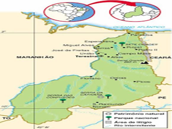 Mapa clima Piauí