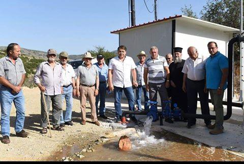 Με πολύ και αρίστης ποιότητας νερό η νέα γεώτρηση στις Λίμνες