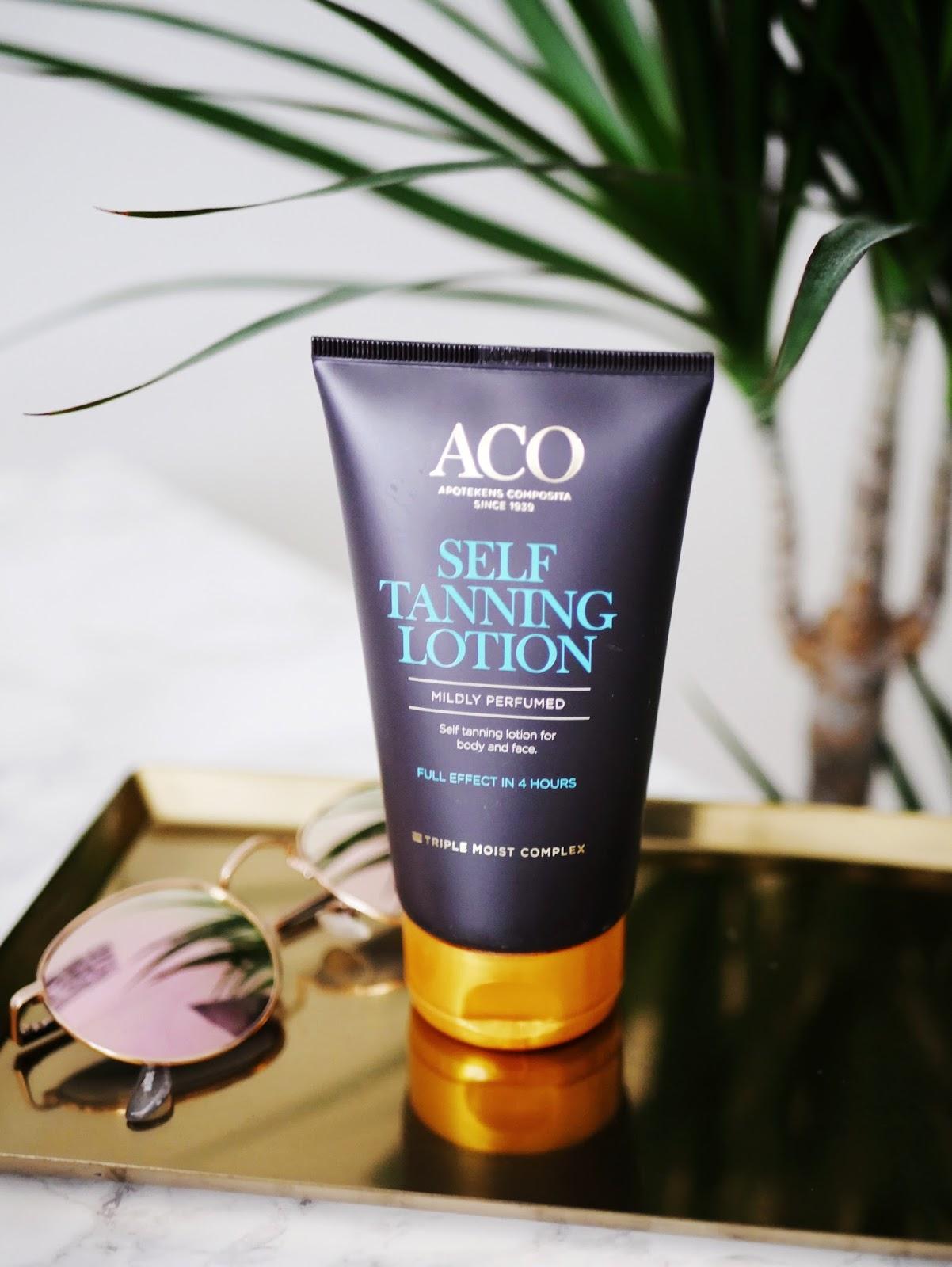 aco self tanning lotion kokemuksia