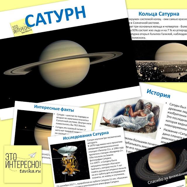 Компьютерная презентация о планете Сатурн для младшей школы