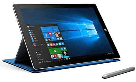 Microsoft Surface Pro 3 12-Inch Tablet (Intel i5-4300U 1.9GHz,256 GB, 8GB RAM, 5MP Camera, Media Card Reader, Windows 10 Pro)