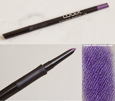 LOOkX exclusive eyeliner 18 - pencil pearle purple review