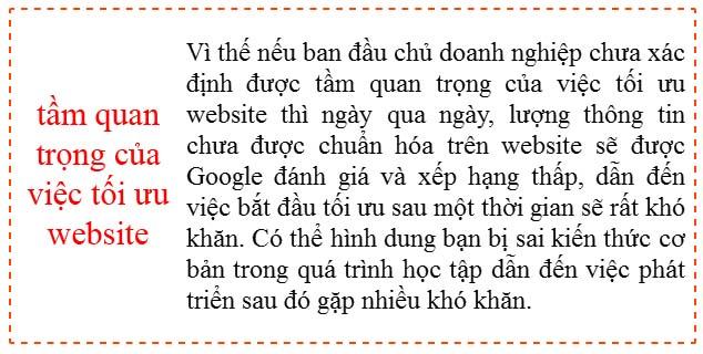 tầm quan trọng của việc tối ưu website