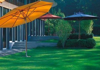 Halbe Sonnenschirme für Balkon Garten