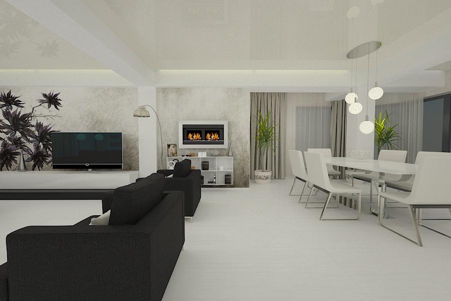 Design interior living casa - Servicii firma amenajari interioare Constanta