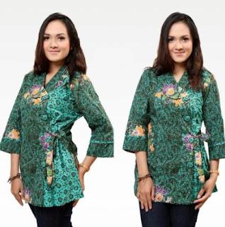 Contoh Model Kemeja Batik Wanita Terbaru