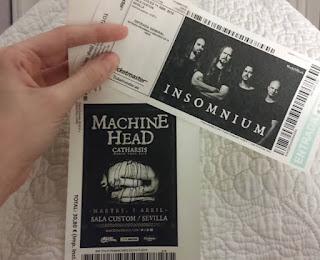 poza biletului unui concert Insomnium din Spania din acelasi turneu