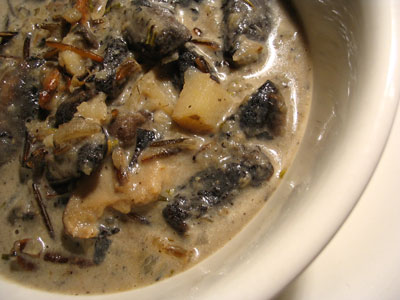 Wild Rice and Portobello Mushroom Soup